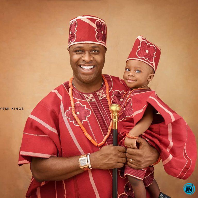 Actor Femi Adebayo Celebrates His Son's Birthday (Photos)